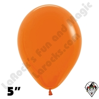 5 Inch Round Fashion Orange Betallatex 100ct