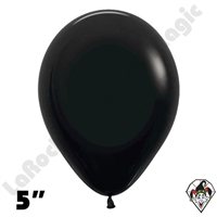 5 Inch Round Deluxe Black Betallatex 100ct