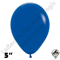 5 Inch Round Fashion Royal Blue Betallatex 100ct