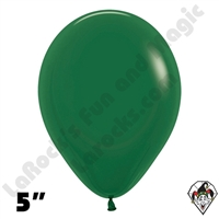 5 Inch Round Fashion Forest Green Betallatex 100ct