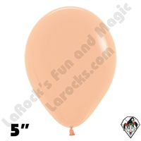 5 Inch Round Deluxe Peach/Blush  Betallatex 100ct