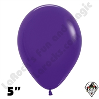 5 Inch Round Fashion Violet Betallatex 100ct