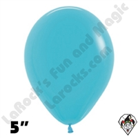 5 Inch Round Deluxe Turquoise Blue Betallatex 100ct