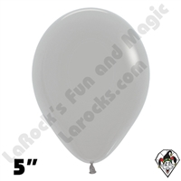 5 Inch Round Deluxe Gray Betallatex 100ct