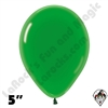 5 Inch Round Crystal Green Betallatex 100ct