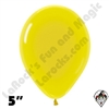 5 Inch Round Crystal Yellow Betallatex 100ct