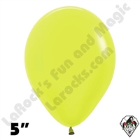 5 Inch Round Neon Yellow Betallatex 100ct