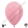 5 Inch Round Pearl Pink Betallatex 100ct