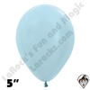 5 Inch Round Pearl Blue Betallatex 100ct