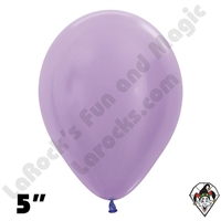 5 Inch Round Pearl Lilac Betallatex 100ct