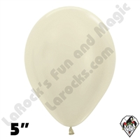 5 Inch Round Pearl Ivory Betallatex 100ct