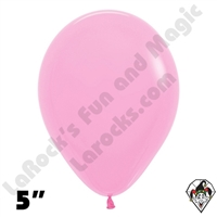 5 Inch Round Fashion Bubble Gum Pink Betallatex 100ct