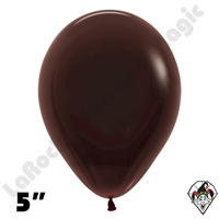 5 Inch Round Deluxe Chocolate Brown Betallatex 100ct