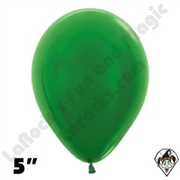 5 Inch Round Metallic Green Betallatex 100ct
