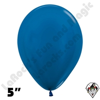 5 Inch Round Metallic Blue Betallatex 100ct