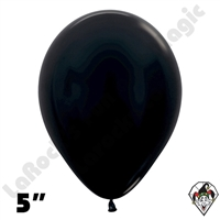 5 Inch Round Metallic Black Betallatex 100ct