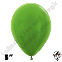 5 Inch Round Metallic Key Lime Betallatex 100ct