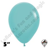 5 Inch Round Fashion Robbins Egg Blue Betallatex 100ct