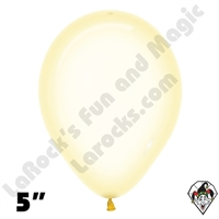 5 Inch Round Crystal Pastel Yellow Betallatex 100ct