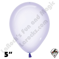 5 Inch Round Crystal Pastel Lilac Betallatex 100ct
