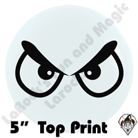 5 Inch Round Angry Eyes Top Print Betallatex 100ct