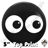 5 Inch Round Double Eyes Top Print Betallatex 100ct