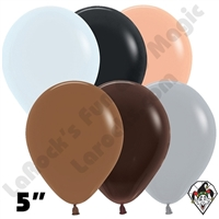 5 Inch Round Assortment Fashion Neutral Betallatex 100ct