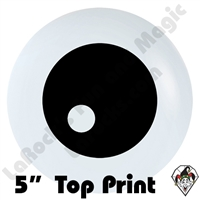 5 Inch Round Eyeball Top Print Betallatex 100ct