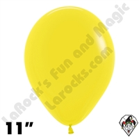 11 Inch Round Fashion Yellow Betallatex 100ct