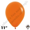 11 Inch Round Fashion Orange Betallatex 100ct
