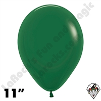 11 Inch Round Fashion Forest Green Betallatex 100ct