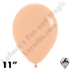 11 Inch Round Deluxe Peach/Blush Betallatex 100ct