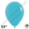 11 Inch Round Deluxe Turquoise Blue Betallatex 100ct