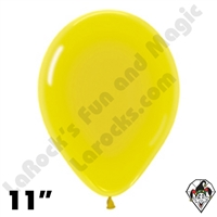 11 Inch Round Crystal Yellow Betallatex 100ct