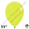 11 Inch Round Neon Yellow Betallatex 100ct