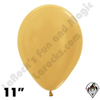 11 Inch Round Metallic Gold Betallatex 100ct
