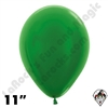 11 Inch Round Metallic Green Betallatex 100ct