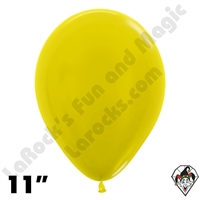 11 Inch Round Metallic Yellow Betallatex 100ct