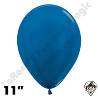 11 Inch Round Metallic Blue Betallatex 100ct