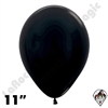 11 Inch Round Metallic Black Betallatex 100ct