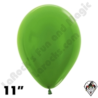 11 Inch Round Metallic Key Lime Betallatex 100ct