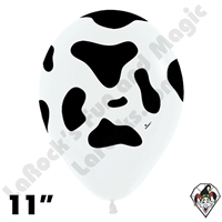 11 Inch Round Cow Print Betallatex 50ct