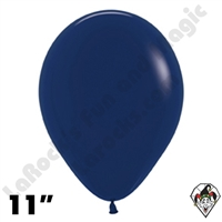 11 Inch Round Fashion Navy Blue Betallatex 100ct