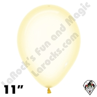 11 Inch Round Crystal Pastel Yellow Betallatex 100ct
