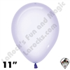 11 Inch Round Crystal Pastel Lilac Betallatex 100ct