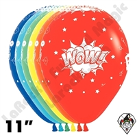 11 Inch Round Comic Burst Betallatex 50ct