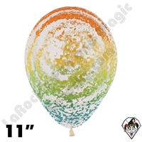 11 Inch Round Graffiti Rainbow Betallatex 50ct