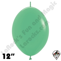 Betallatex 12 Inch Fashion Green Link O Loon 50ct