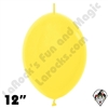 Betallatex 12 Inch Fashion Yellow Link O Loon 50ct