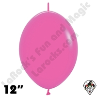 Betallatex 12 Inch Deluxe Fuchsia Link O Loon 50ct